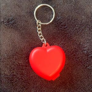 Tupperware red heart keychain